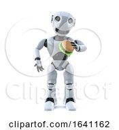 3d Robot Eats A Beef Burfer