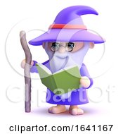 3d Wizard Reads A Book
