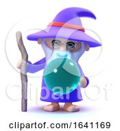 Poster, Art Print Of 3d Wizard With Crystal Ball