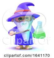 3d Wizard Has A Potion