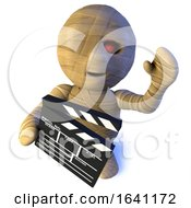 3d Funny Cartoon Egyptian Mummy Monster Character Making A Movie