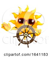 Poster, Art Print Of 3d Sun Steers The Ship