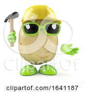 Poster, Art Print Of 3d Construction Worker Potato