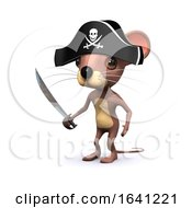 3d Pirate Mouse With Cutlass by Steve Young