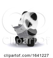 3d Baby Panda Reads The News by Steve Young