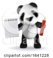 3d Organised Panda by Steve Young