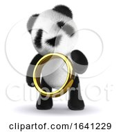 3d Panda Gold Ring by Steve Young