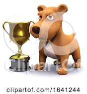 Poster, Art Print Of 3d Puppy Dog Gold Cup Champion