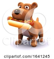 Poster, Art Print Of 3d Dog With Hot Dog