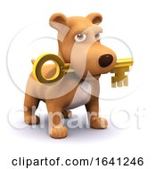Poster, Art Print Of 3d Puppy And Key