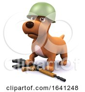 Poster, Art Print Of 3d Soldier Dog