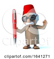 3d Moroccan Has A Red Pen by Steve Young
