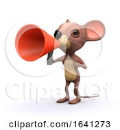 Cartoon 3d Mouse Shouting Through A Loudhailer Megaphone by Steve Young