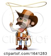 3d Cowboy Sheriff Swings His Lasso