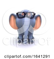 3d Elephant In Glasses by Steve Young