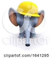 3d Elephant Construction Worker by Steve Young
