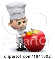 3d Chef Has An Apple by Steve Young