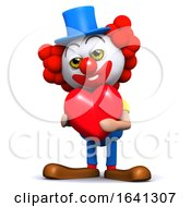 Poster, Art Print Of 3d Clown Is In Love