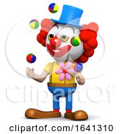 3d Clown Loves To Juggle