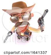 3d Funny Cartoon Cowboy Shooting His Gun In The Air