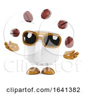 Poster, Art Print Of 3d Coffee Cup Juggles Coffee Beans