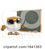 Poster, Art Print Of 3d Coffee Cup Teaches About Coffee