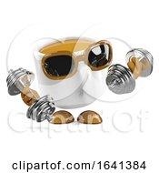Poster, Art Print Of 3d Coffee Cup Works Out