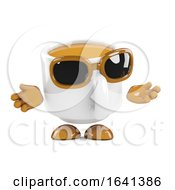 Poster, Art Print Of 3d Coffee Cup Shrugs