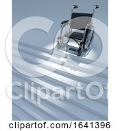 3d Wheelchair And Staircase