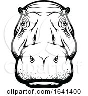 Black And White Hippo Face