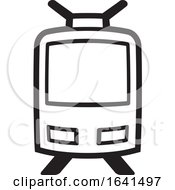 Tram Car In Black And White