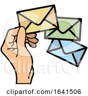 Hand With Envelopes