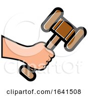 Hand Holding A Gavel