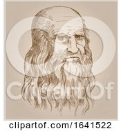 Sketched Portrait Of Leonardo Da Vinci