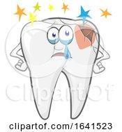Cartoon Broken Tooth Character Feeling Bad