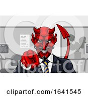 Devil Evil Businessman In Suit Pointing by AtStockIllustration