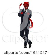 Businessman Evil Devil In Suit by AtStockIllustration