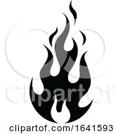Black And White Flame Icon