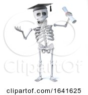 3d Skeleton Has Graduated With A Diploma by Steve Young