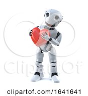 Poster, Art Print Of 3d Robot Is Feeling Very Romantic