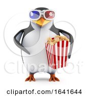 3d Penguin Going To A 3d Movie