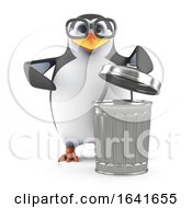 3d Academic Penguin Takes Out The Trash by Steve Young