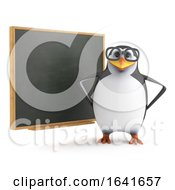 3d Academic Penguin At The Blackboard by Steve Young