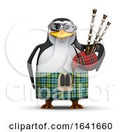 3d Scottish Penguin With Bagpipes by Steve Young