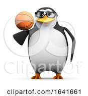 3d Penguin With A Basketball by Steve Young