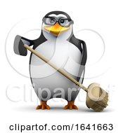 3d Penguin Sweeps Up by Steve Young