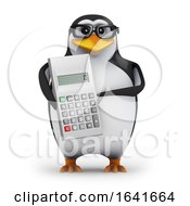 3d Penguin With A Calculator by Steve Young