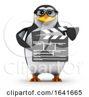 3d Penguin With A Clapperboard by Steve Young