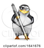 3d Penguin Using A Pen by Steve Young