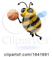 3d Honey Bee Playing Basketball by Steve Young
